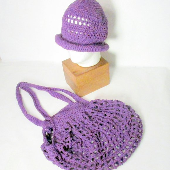 InfiniteElaine Handbags - NEW Matching Handmade Hat and French Market Bag
